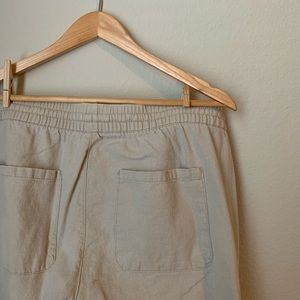Linen Blend Tan Pants